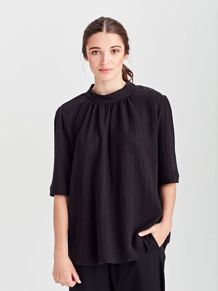 Alexa Dress (Cotton Linen) Black
