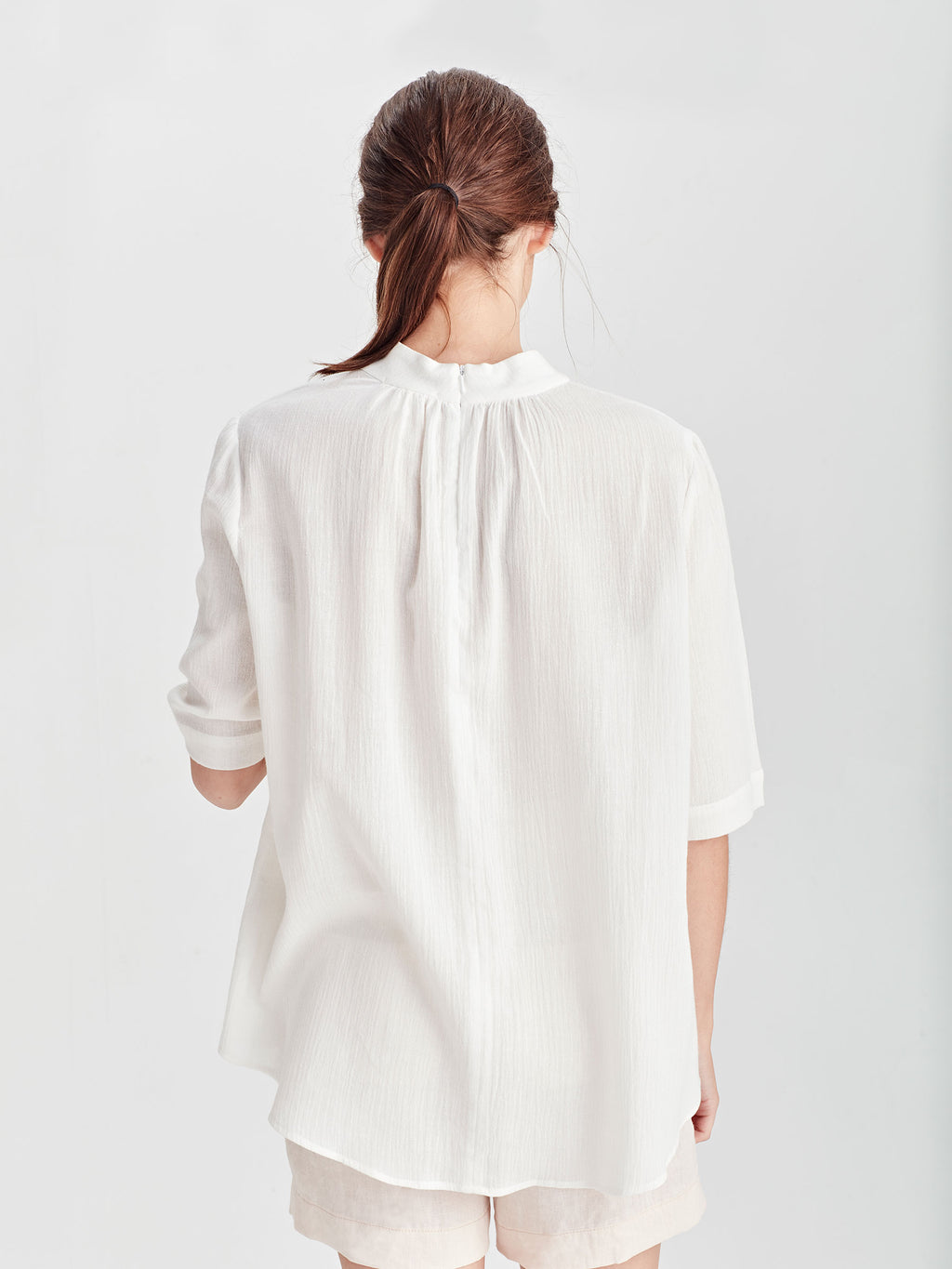 Al Blouse (Cotton Linen) White