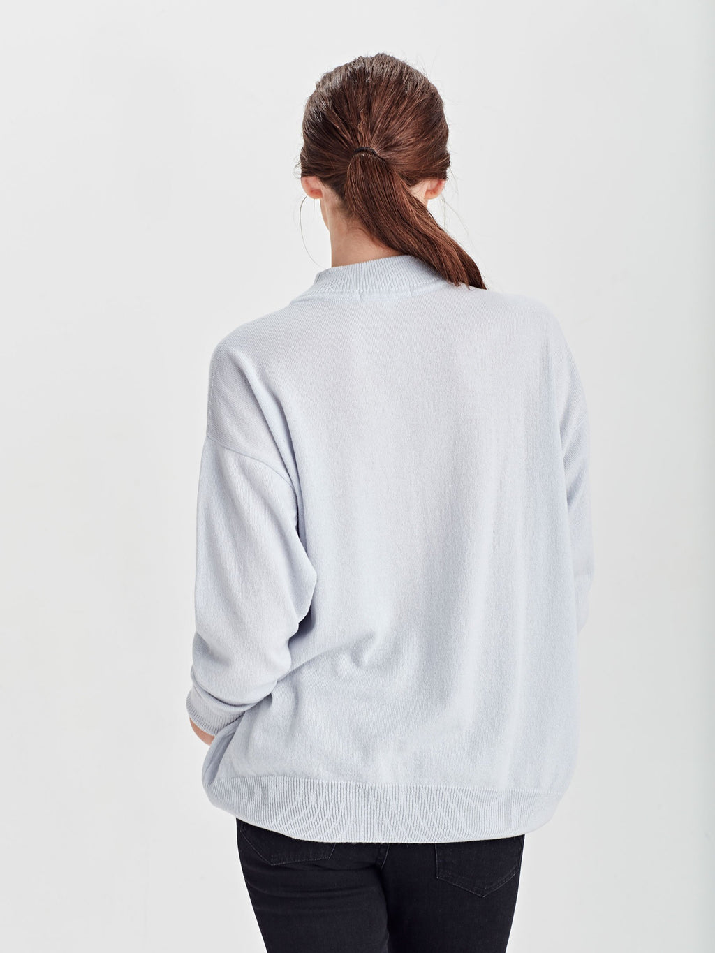 Clare Sweater (Cashmere) Baby Blue