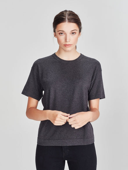 LS Luxe T (Cotton Cashmere) Charcoal
