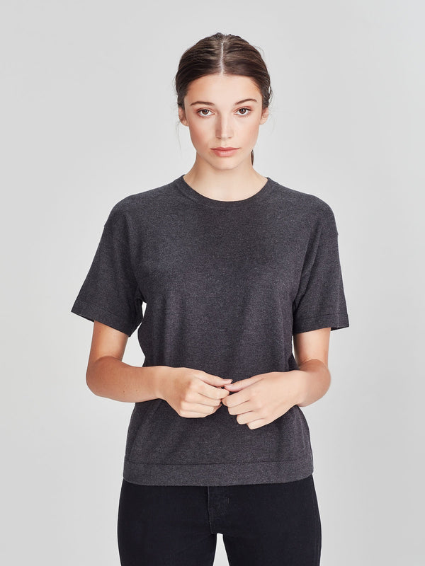 Luxe T (Cotton Cashmere) Charcoal