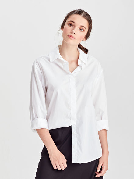 Luxe Box T (Luxe Cotton Sweat Shirting) White