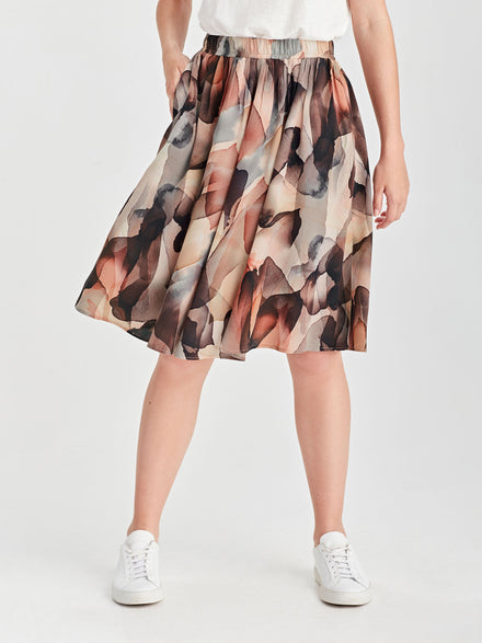 Sana Skirt (Satin Triacetate) Shell