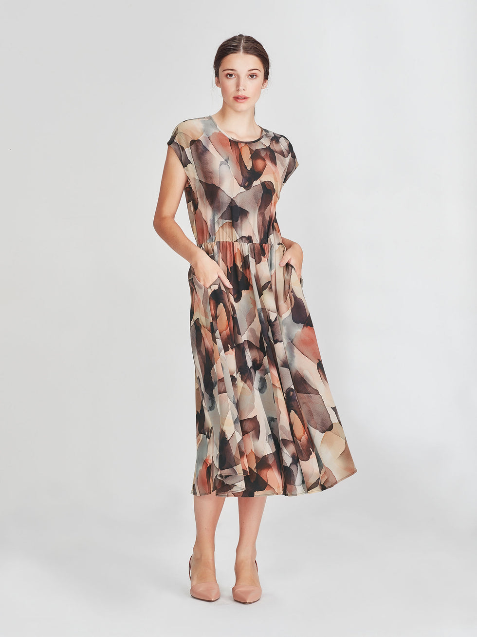 Fenella Dress (Cloud Silk) Cloud