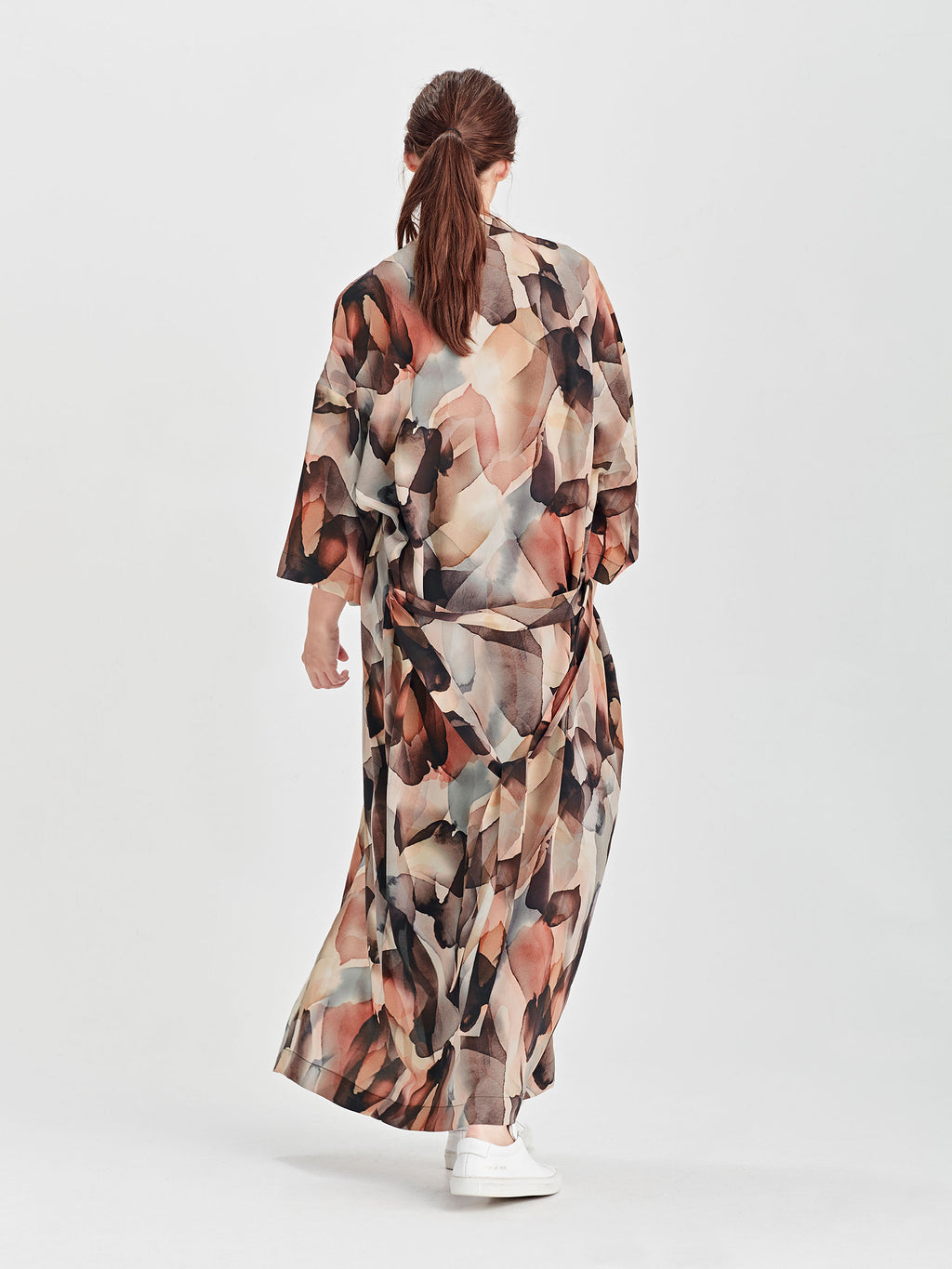 Hazel Silk Robe (Cloud Silk) Cloud