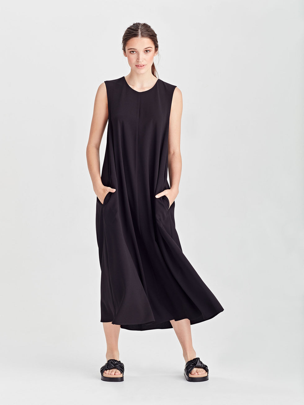 Tattie Dress (Drapey Crepe) Black
