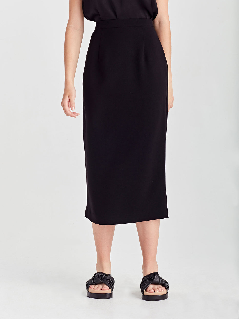 Simone Skirt (Japanese Poly) Black
