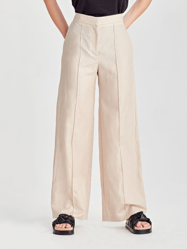 Amy Pant (Linen Suiting) Sand