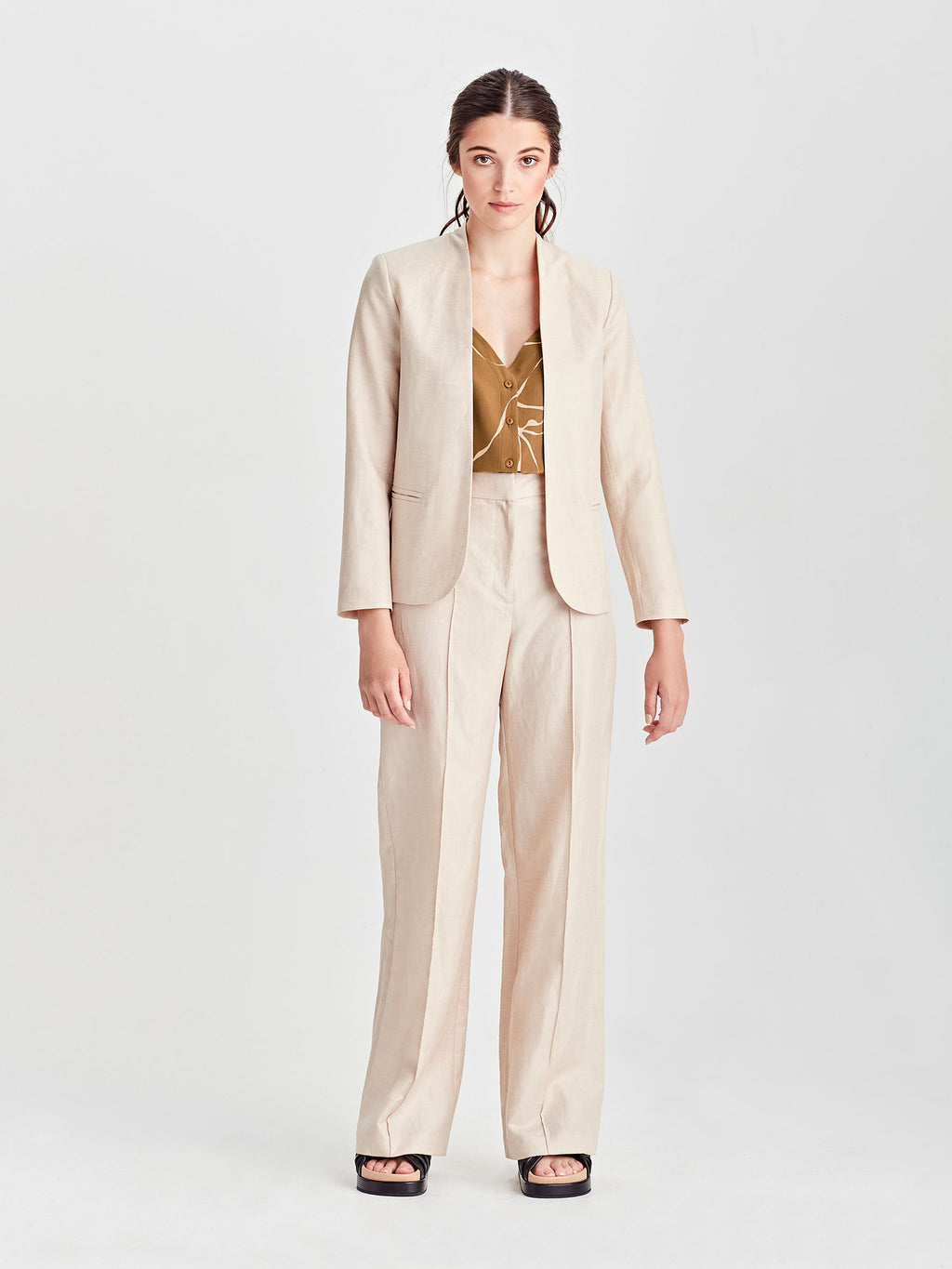 North Blazer (Linen Suiting) Sand
