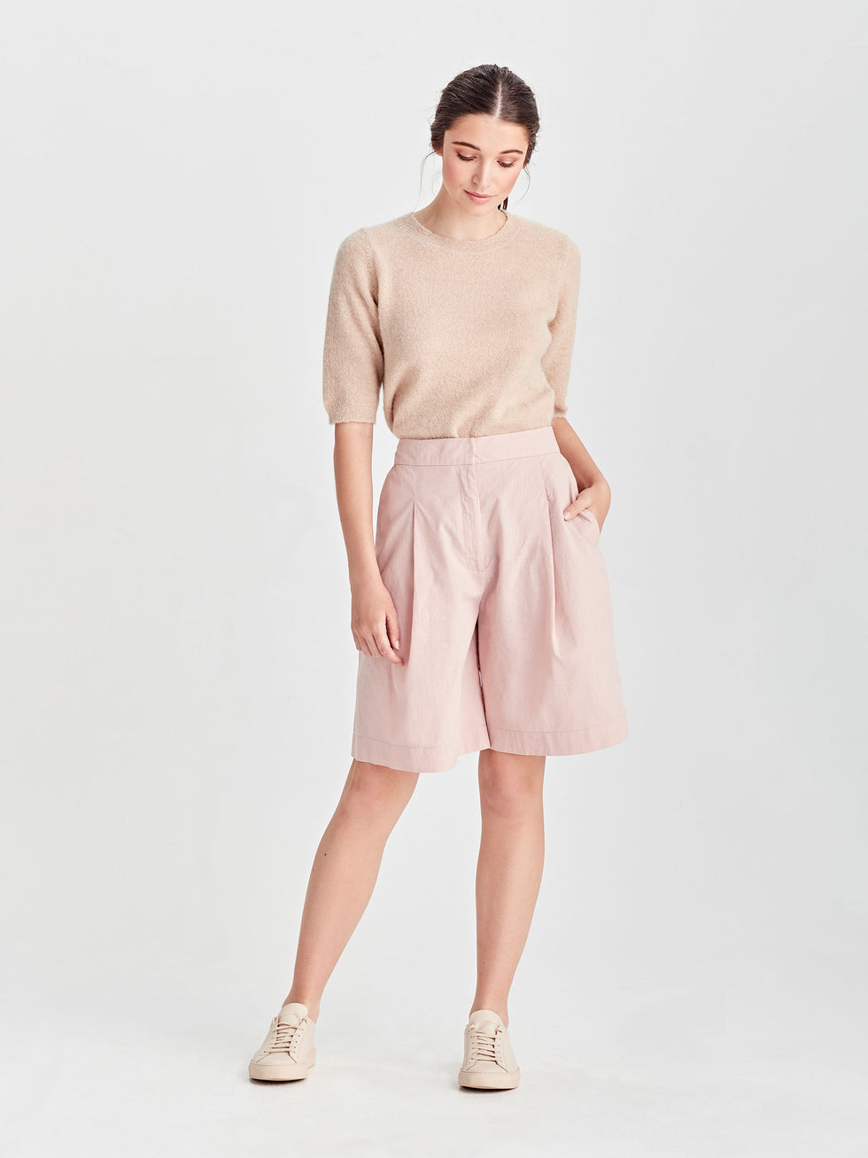 Cal Short (Light Linen Cotton) Rose