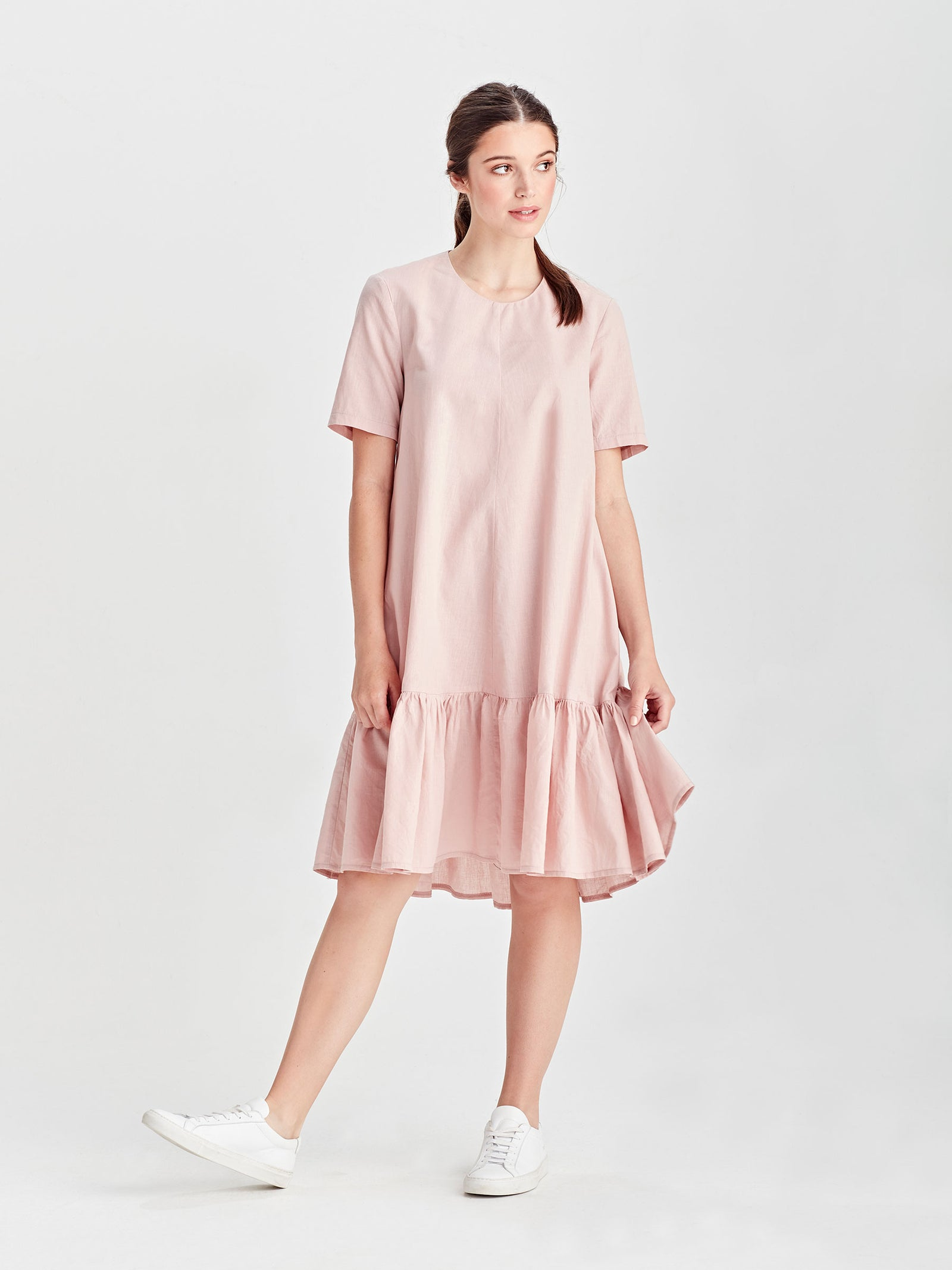Ela Dress (Light Linen Cotton) Rose