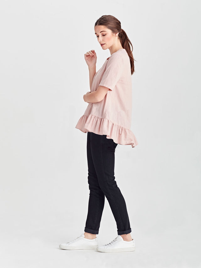 Kafka Top (Light Linen Cotton) Rose