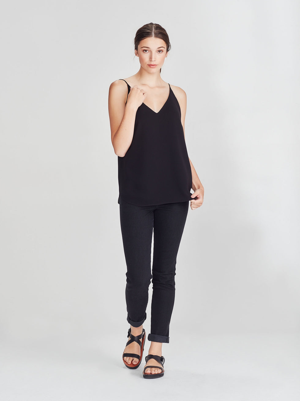 Barette Cami (Luxe Coloured Suiting) Black