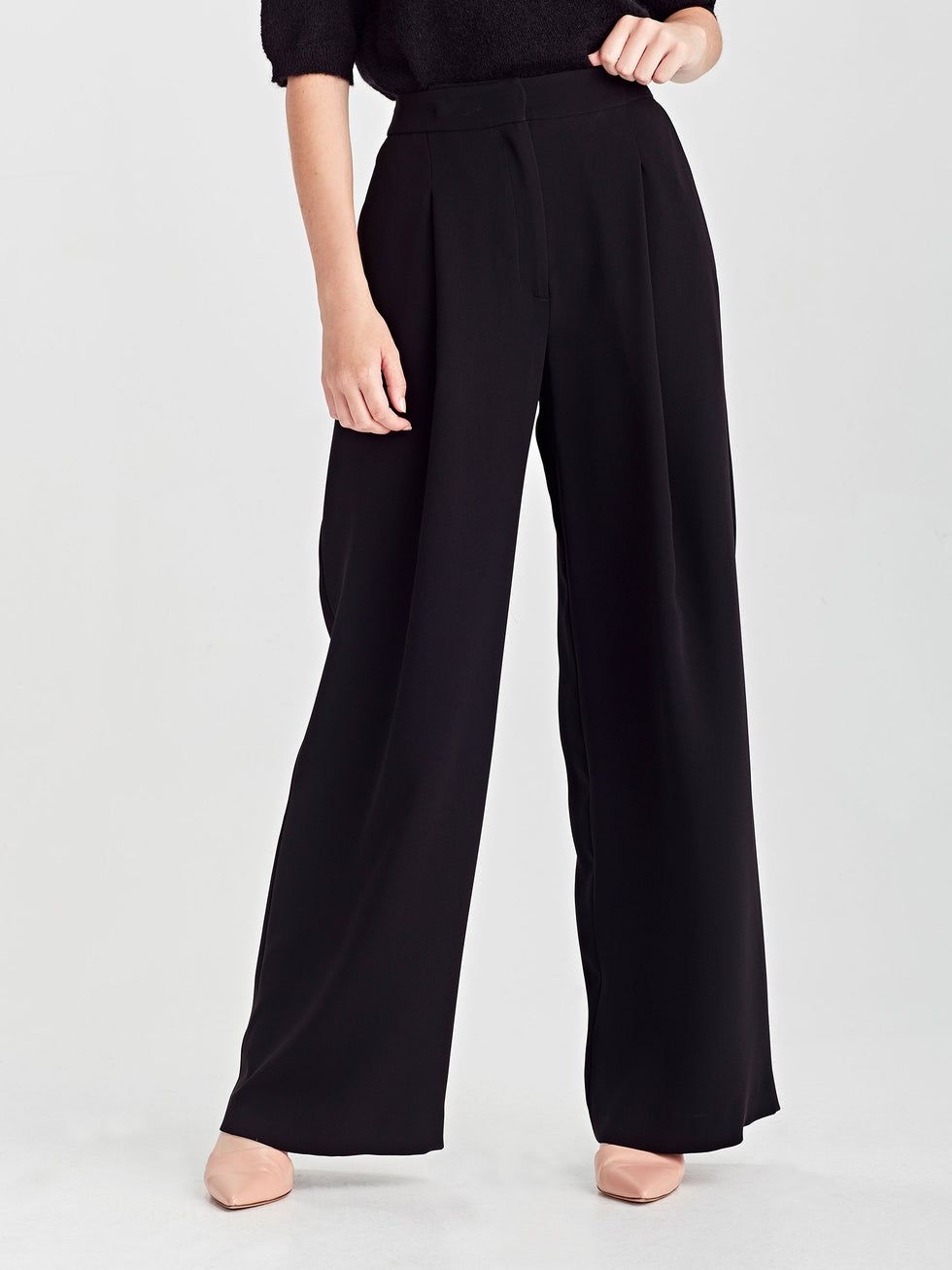 Calla Culottes (Luxe Coloured Suiting) Black
