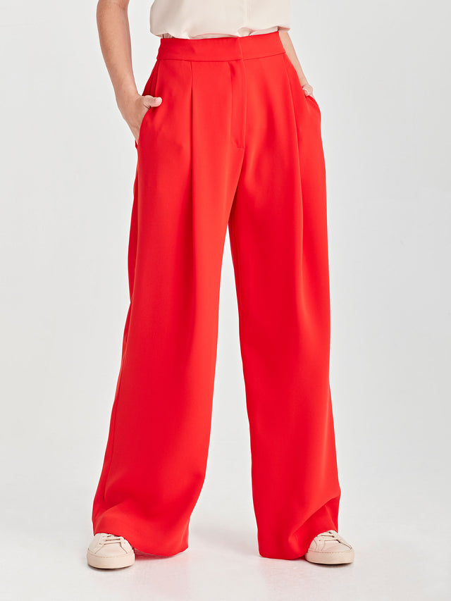Calla Culottes (Luxe Coloured Suiting) Cherry