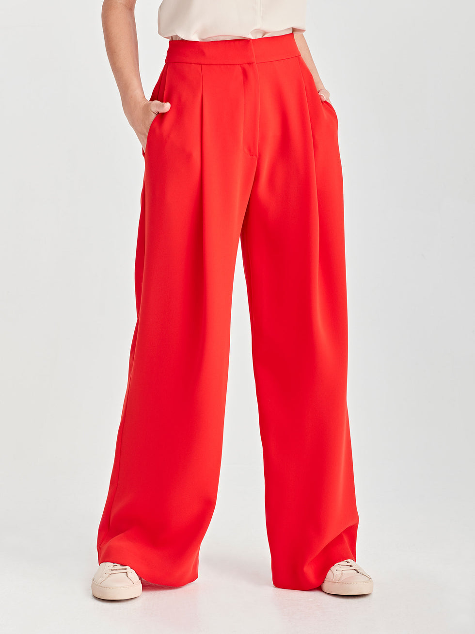 Calla Culottes (LuxeColoured Suiting) Cherry