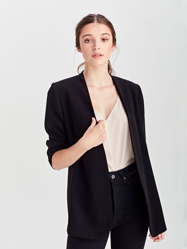 Lindsay Blazer (Luxe Coloured Suiting) Black