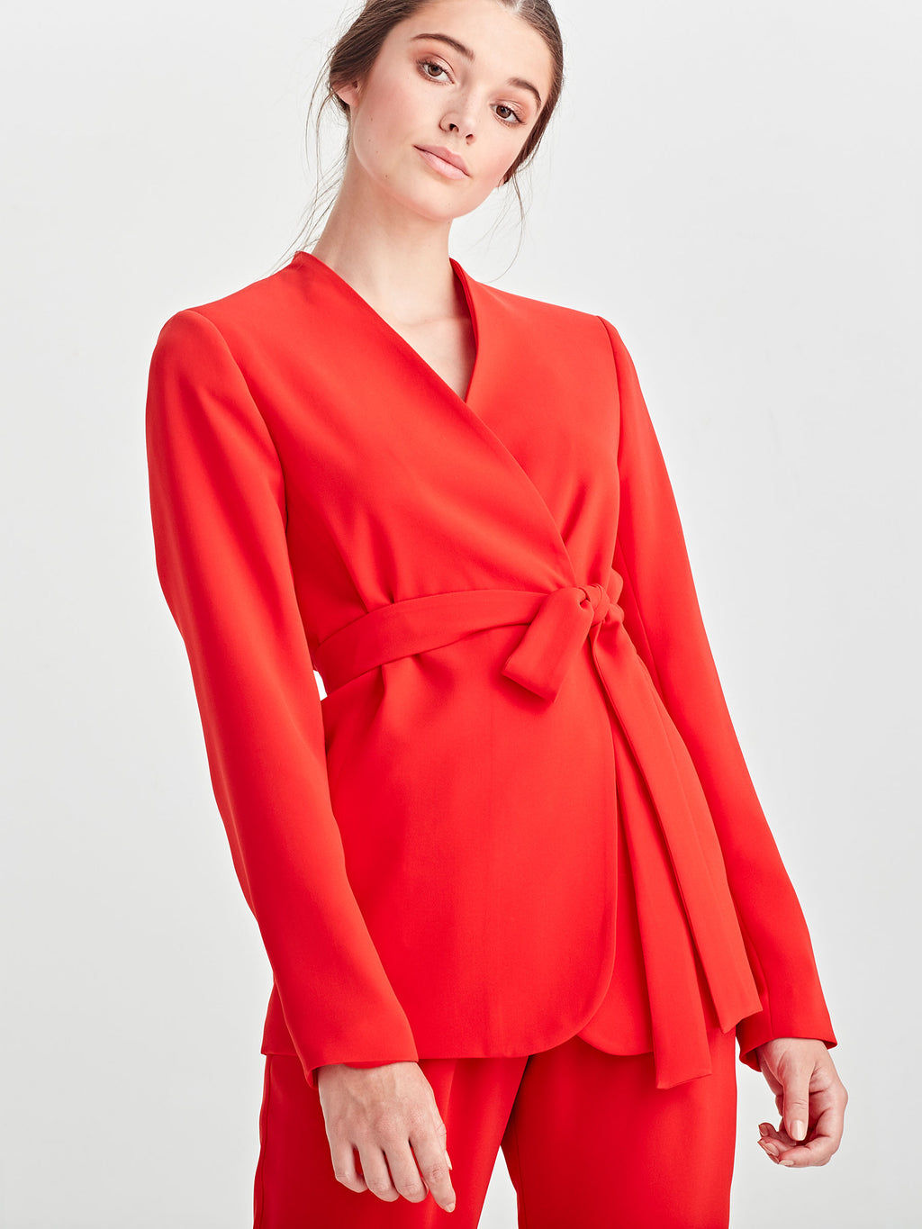 Lindsay Blazer (Luxe Coloured Suiting) Cherry