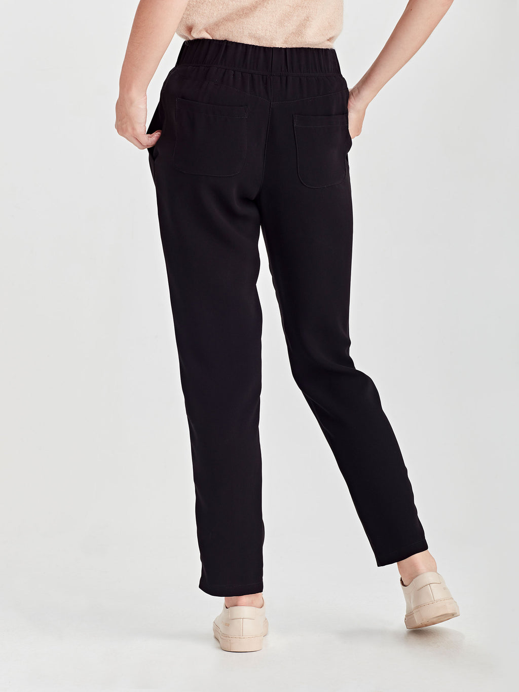Malfoy Pant (Luxe Coloured Suiting) Black