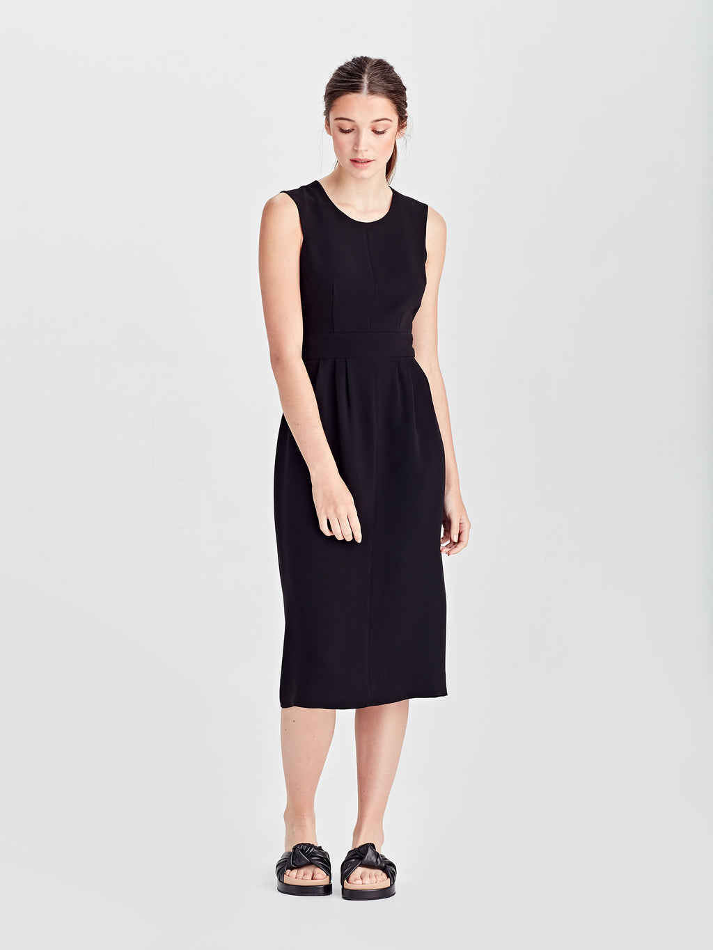 Nicole Dress (Luxe Coloured Suiting) Black