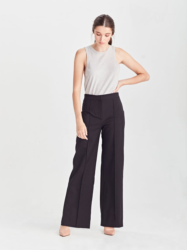 Amy Pant (Luxe Suiting) Black