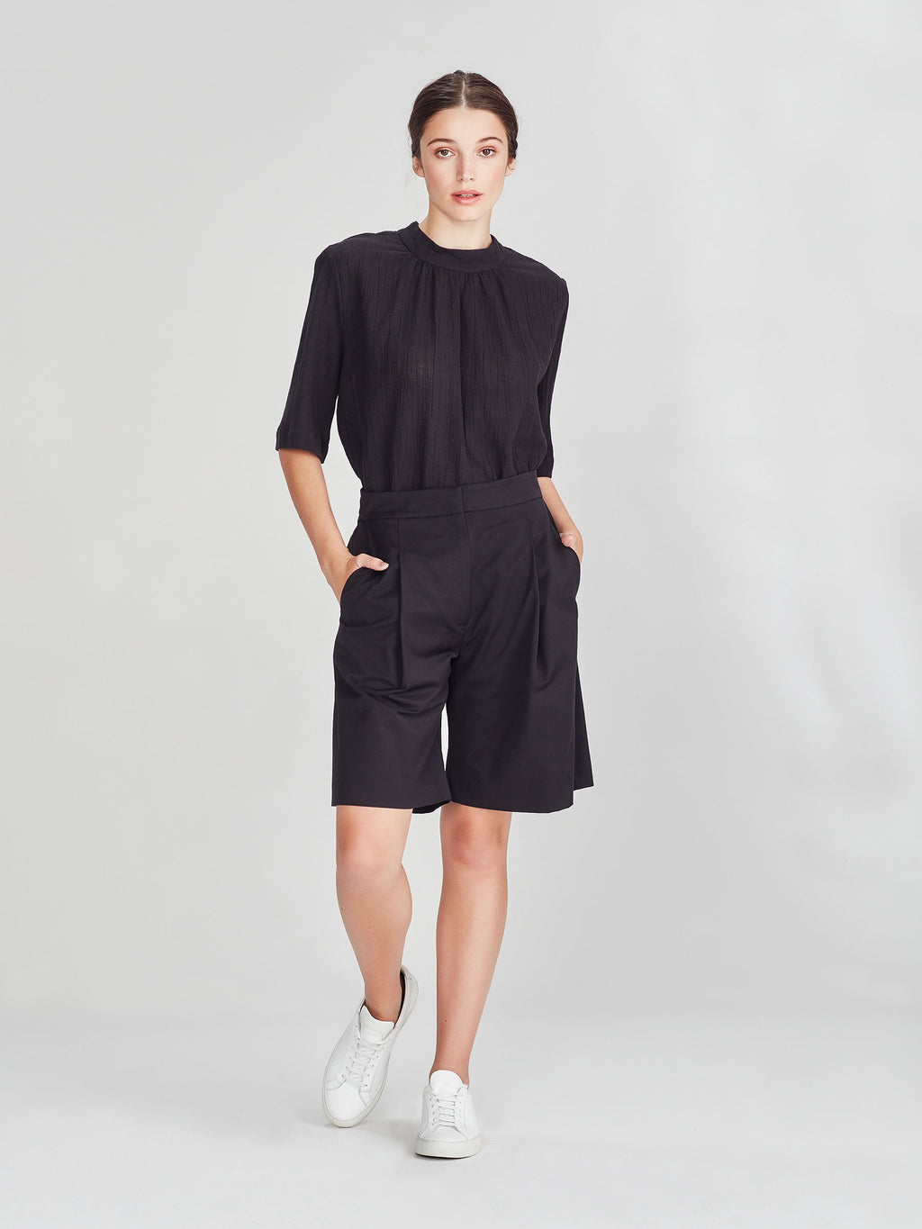 Cal Shorts (Luxe Suiting) Black