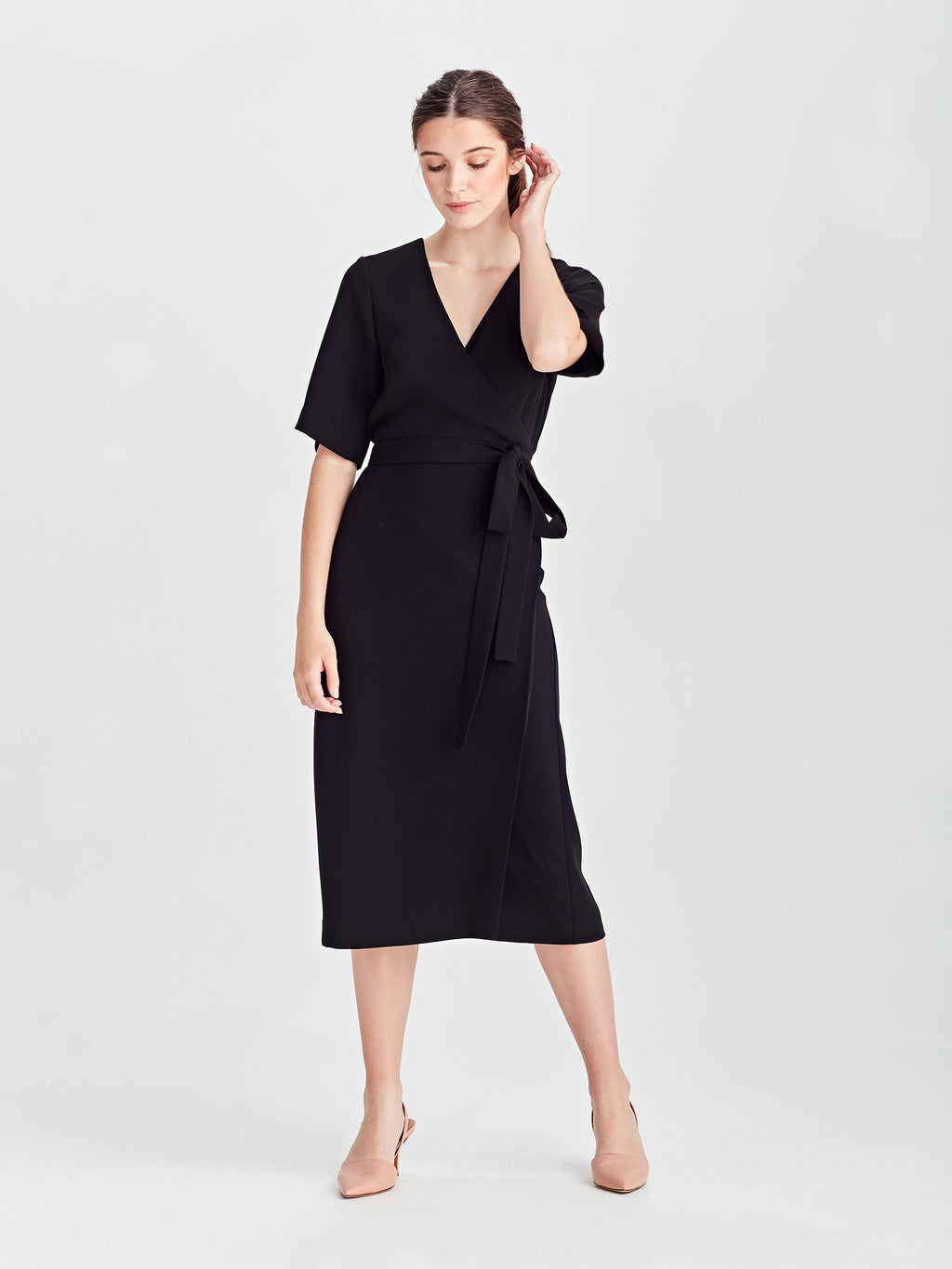 Nancy Dress (Luxe Triacetate) Black