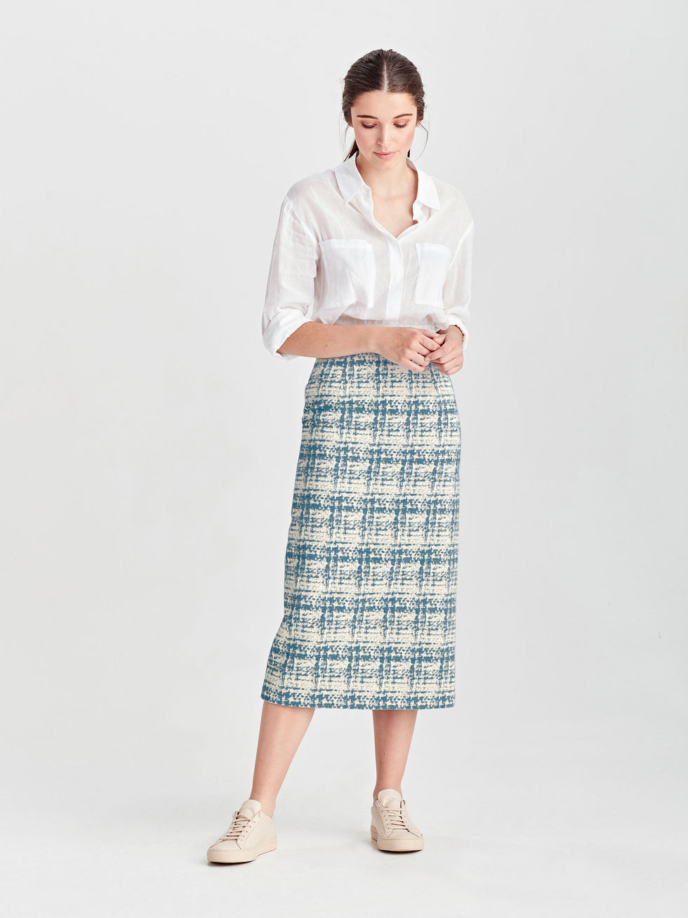Simone Skirt (Lady Tweed) Sky