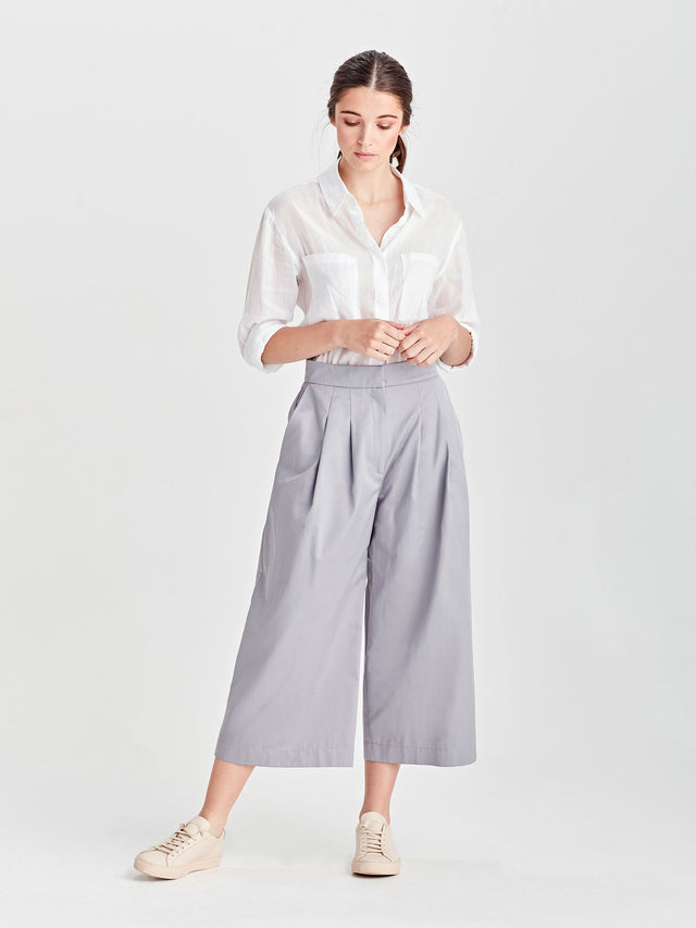 Hillary Culotte (Luxe Canvas) Steel