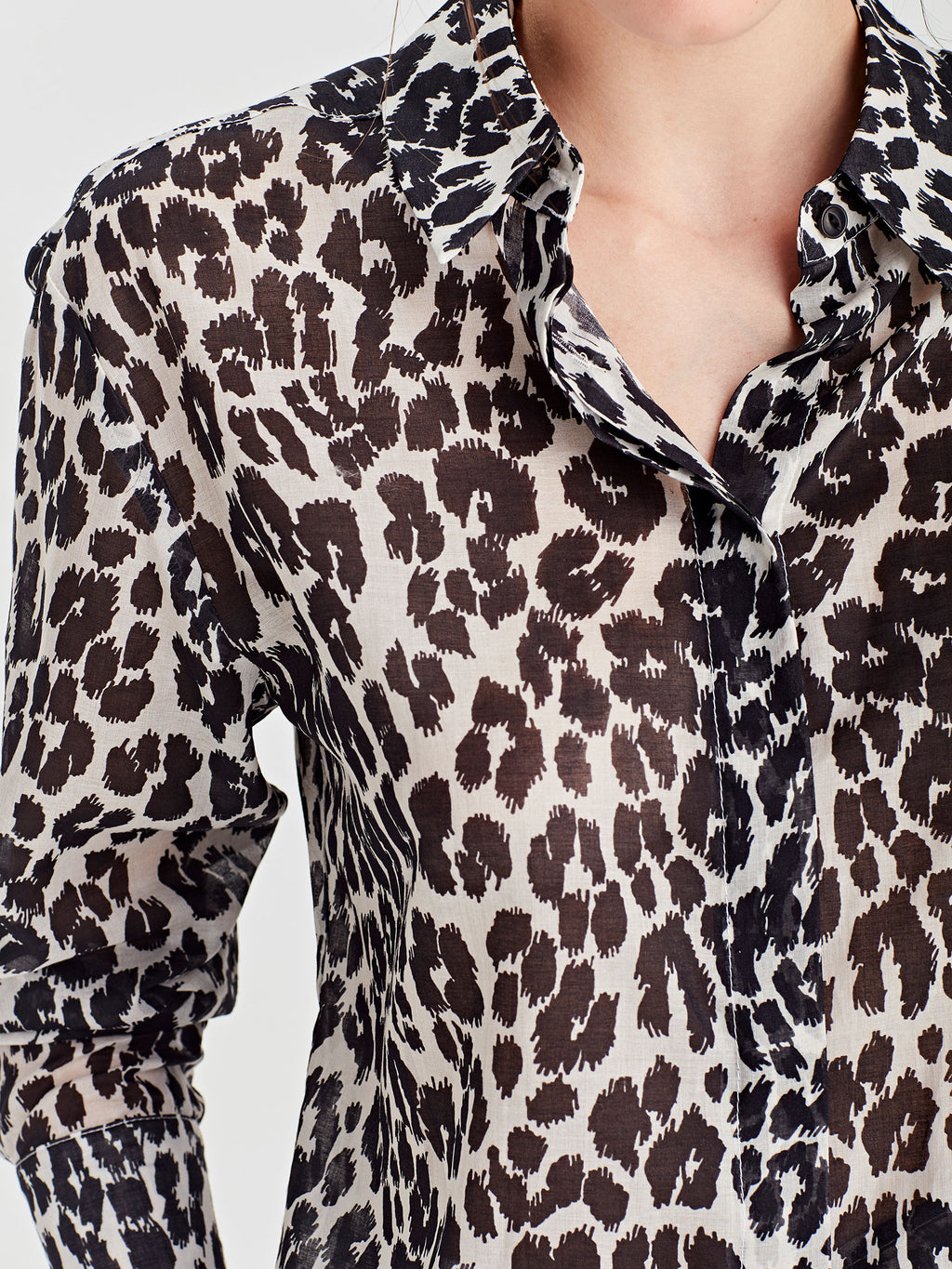 Cody Shirt (Leopard Voile) Scribble