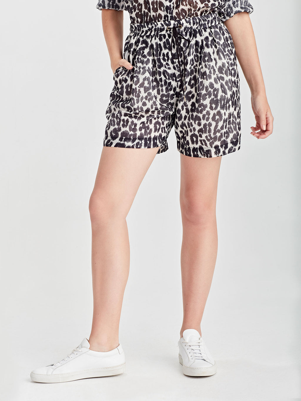 Devon Short (Leopard Voile) Scribble