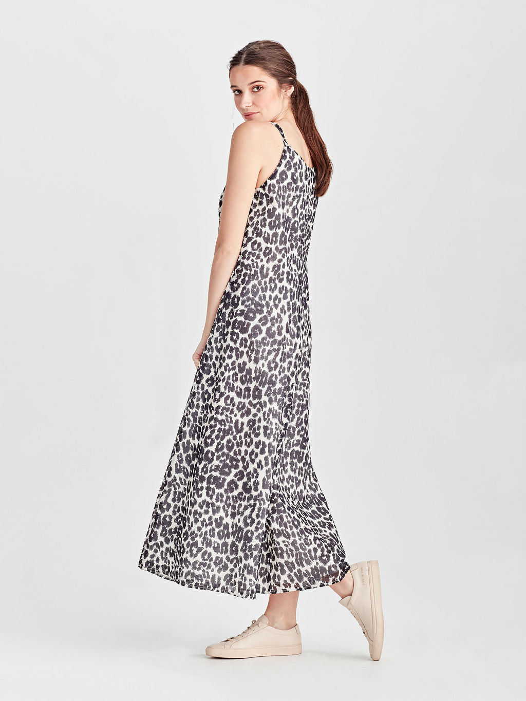 Veronica Dress (Leopard Voile) Scribble