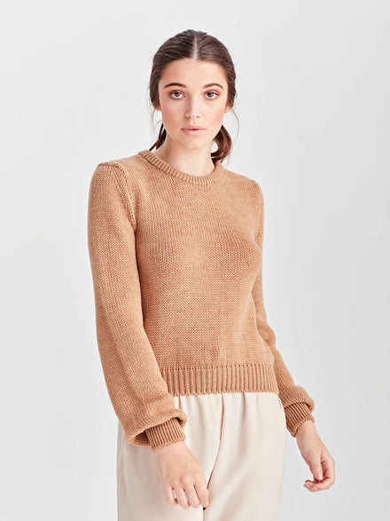 Heather Merino Sweater (Merino) Chalk