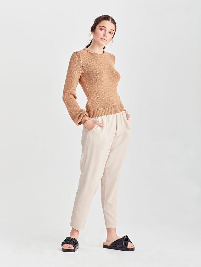 Heather Merino Sweater (Merino) Tan