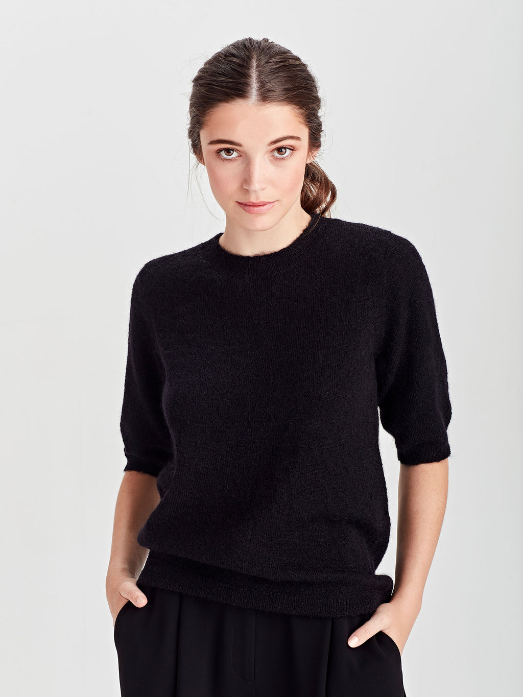 Beckett T (Mohair) Black