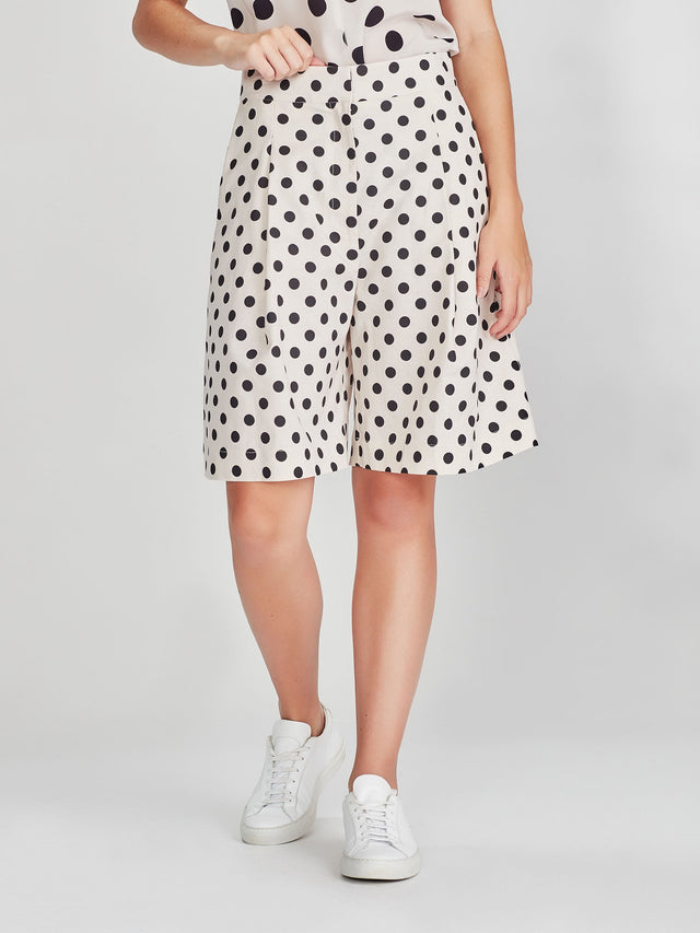 Cal Shorts (Polka Linen) Chalk/Black