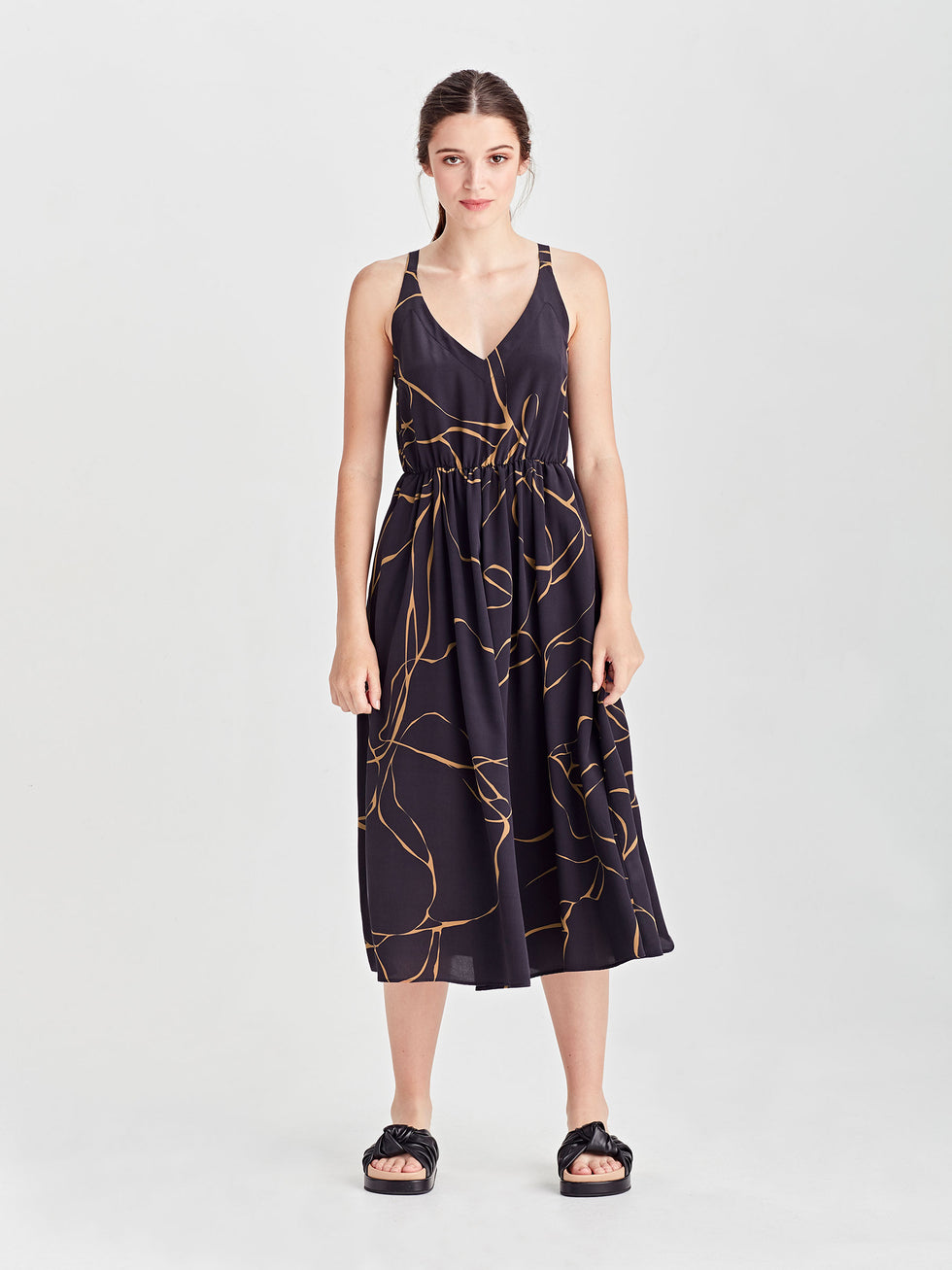 Fifi Dress (Ribbon Poly) Admiral