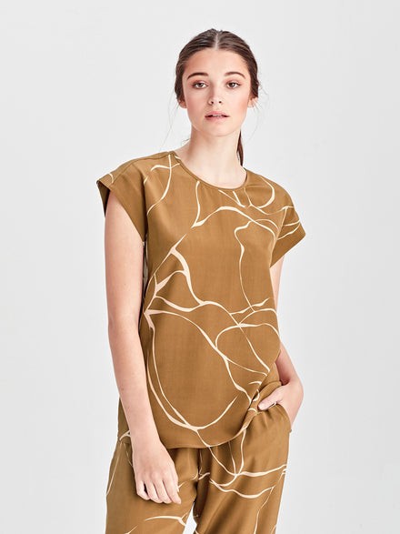 Isadora Dress (Surreal Spot Silk) Rose Gold