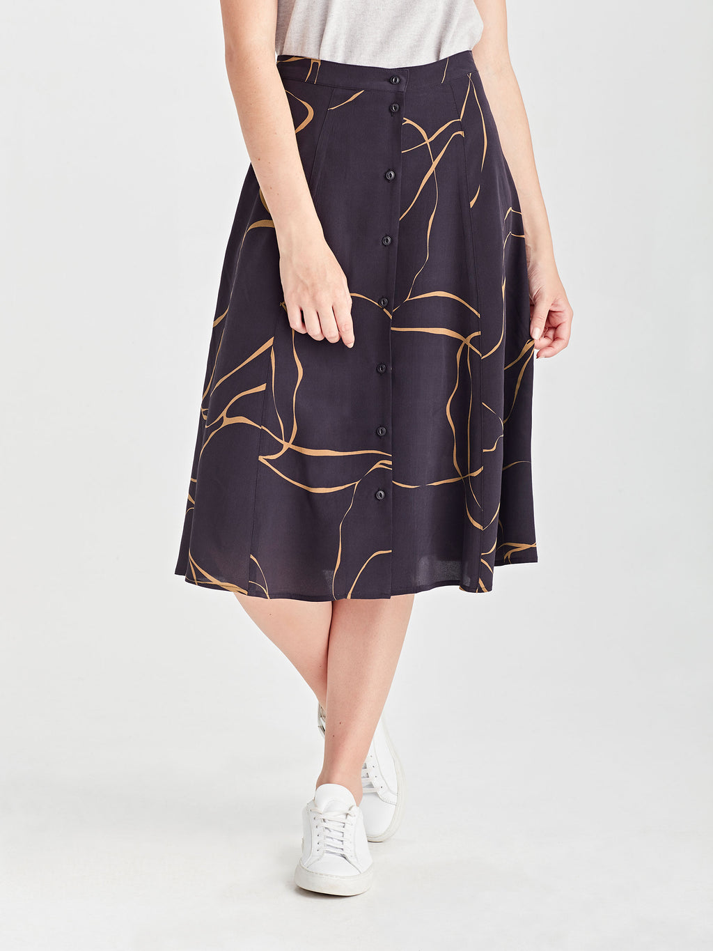 Ollie Skirt (Ribbon Poly) Admiral