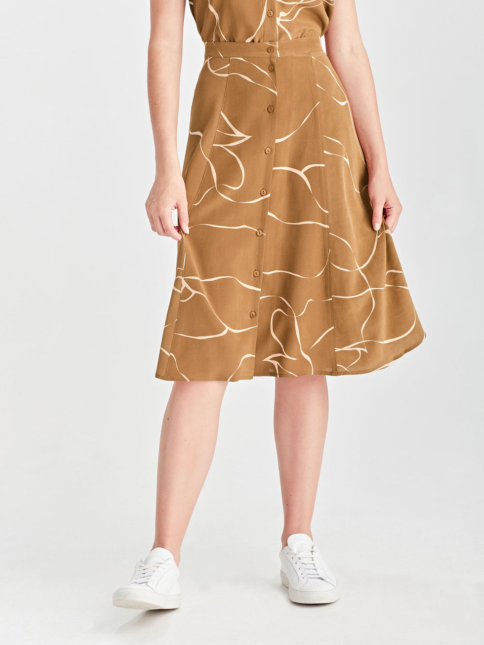 Ollie Skirt (Ribbon Poly) Tawny