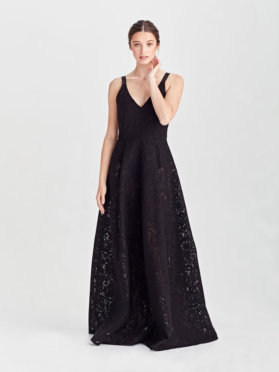 Bessie Dress (Scuba Lace) Black Lace