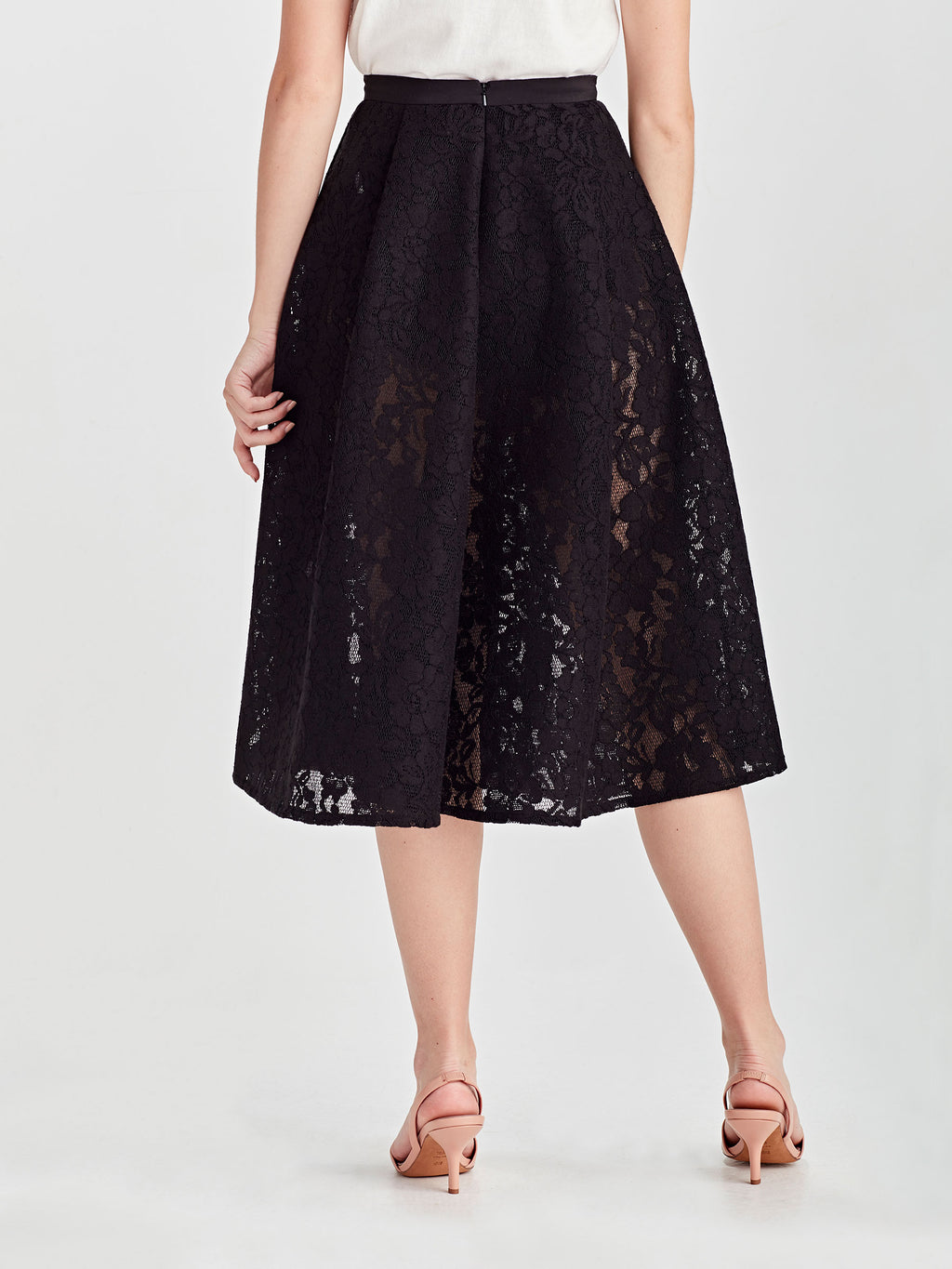 Blair Skirt (Scuba Lace) Black Lace