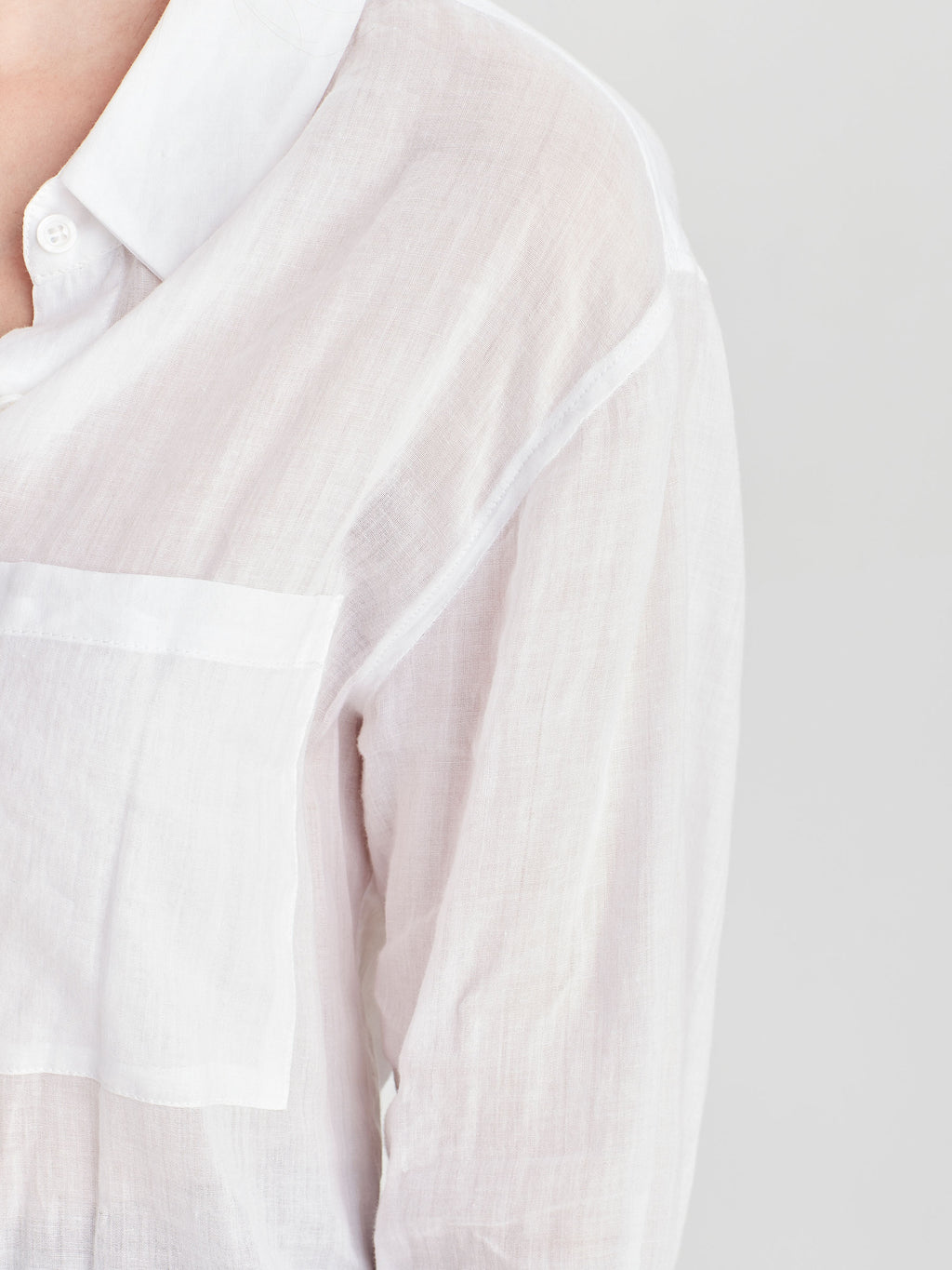 Cohen Shirt (Sheer Cotton) White
