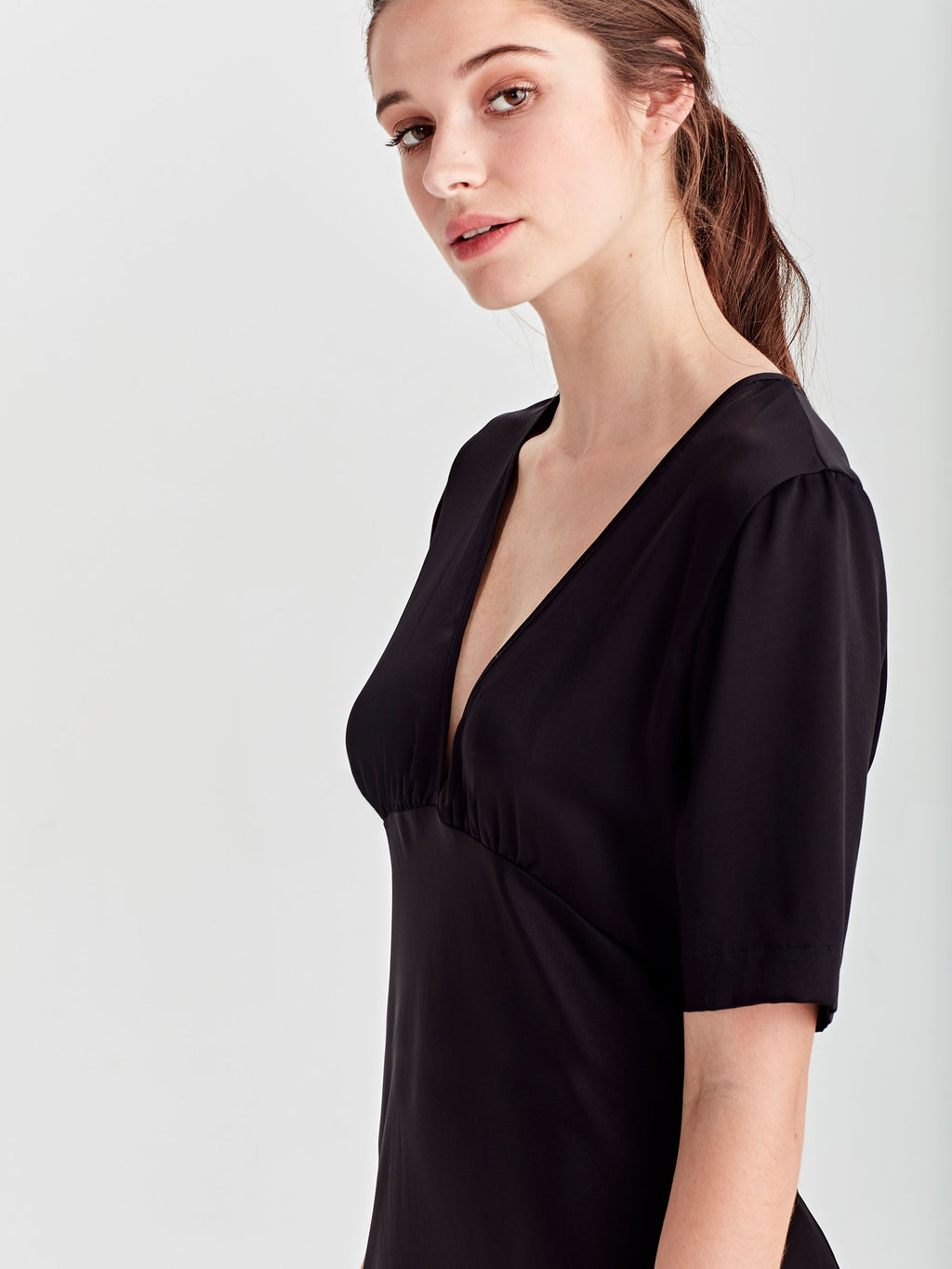 Covet Dress (Satin Triacetate) Black