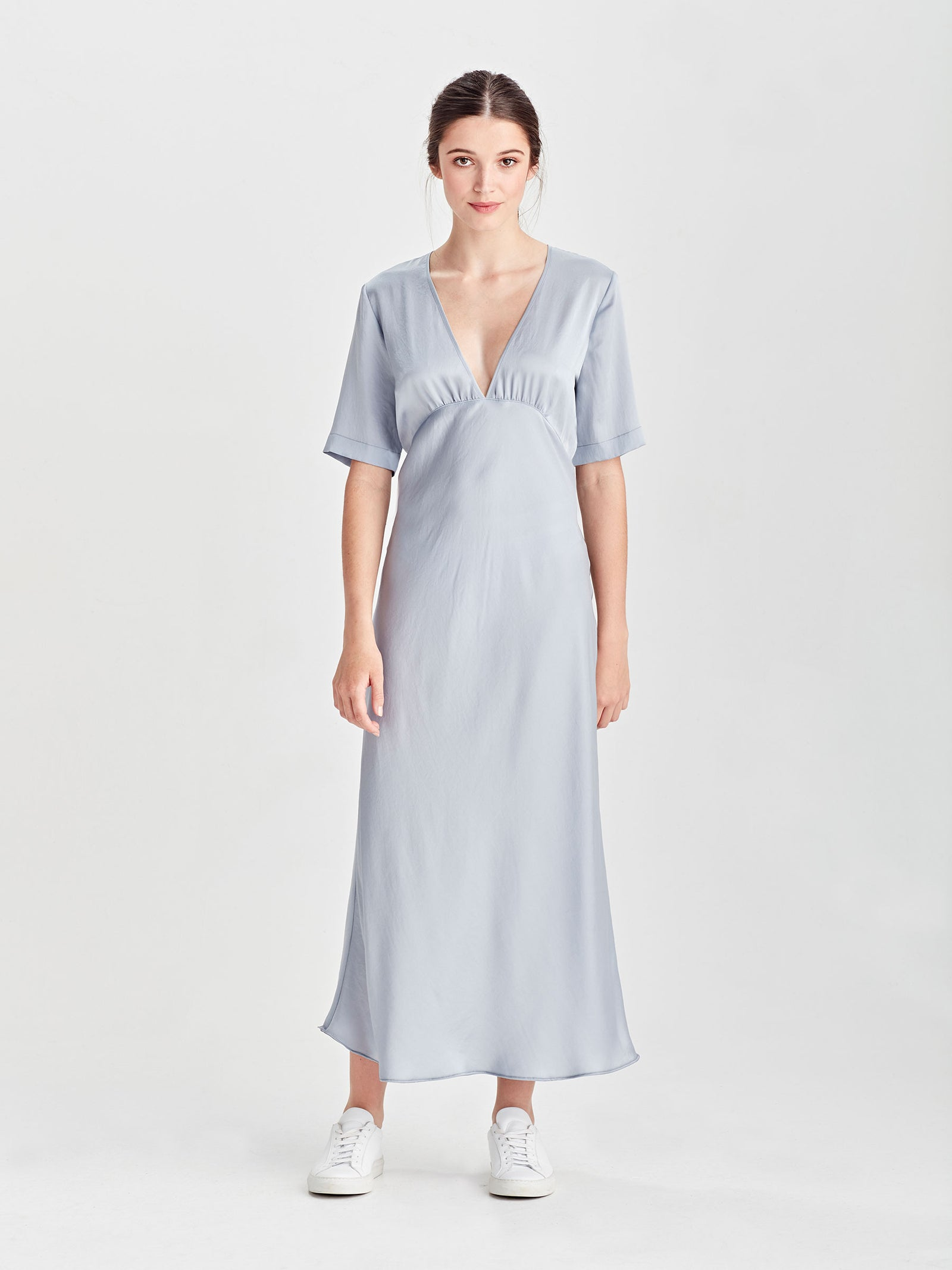 Covet Dress (Satin Triacetate) Powder