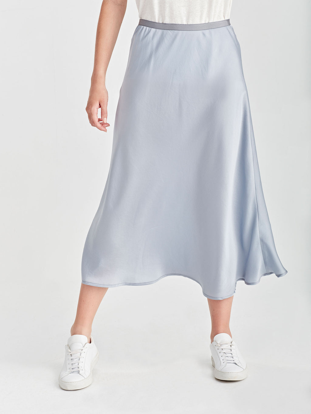 Sana Skirt (Satin Triacetate) Powder