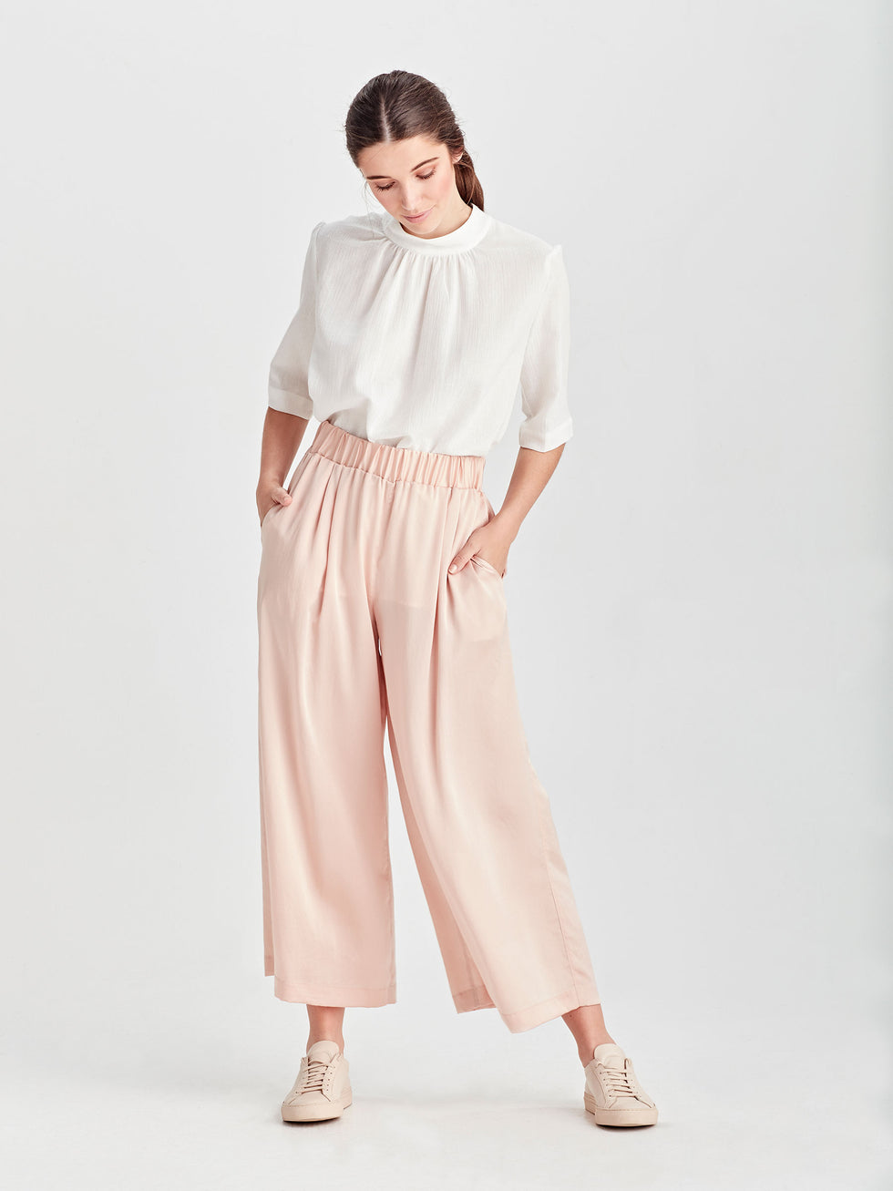 Wide Leg Ash Pant (Satin Triacetate) Shell