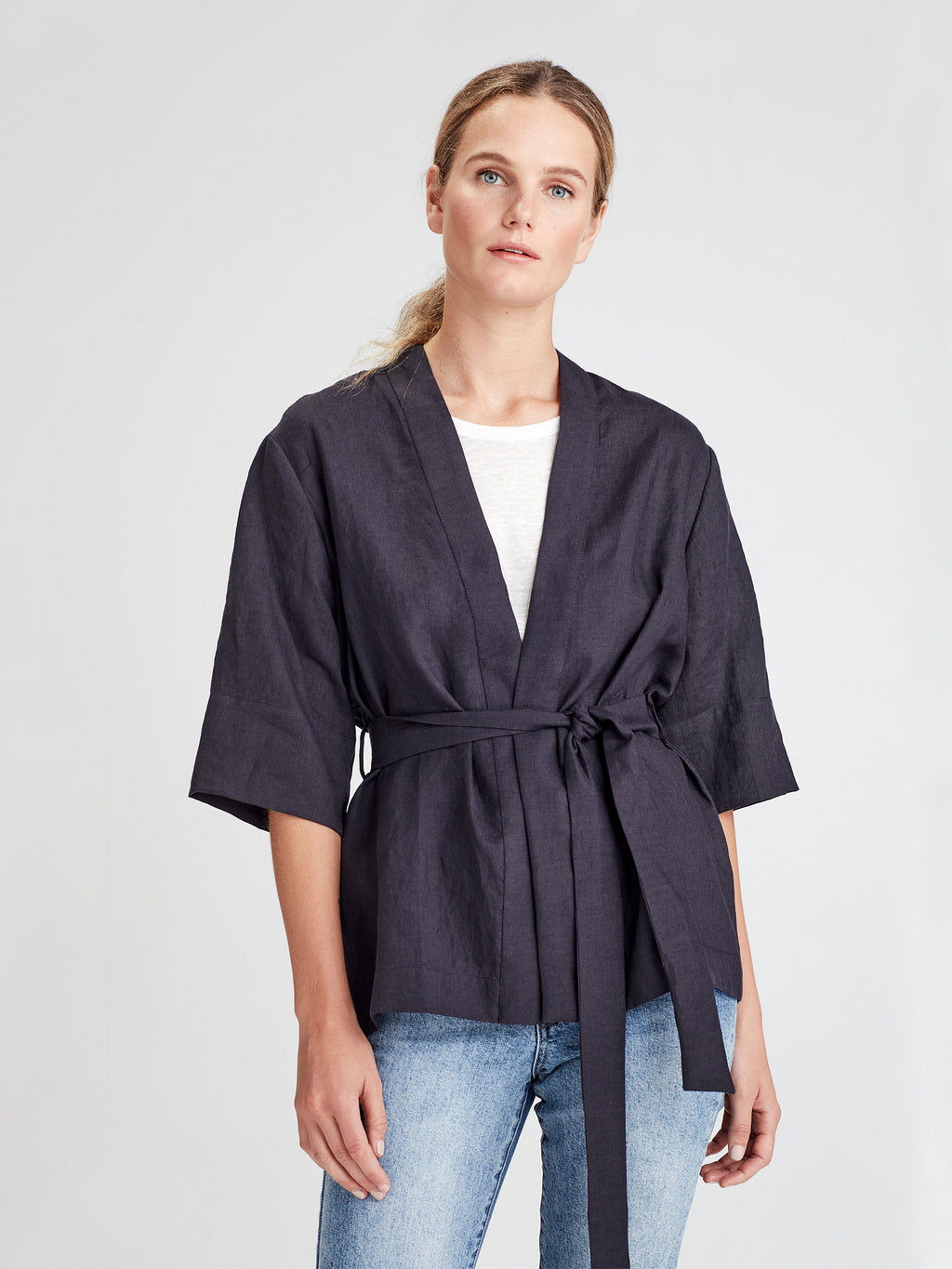 Mio Jacket (Summer Linen) Ink