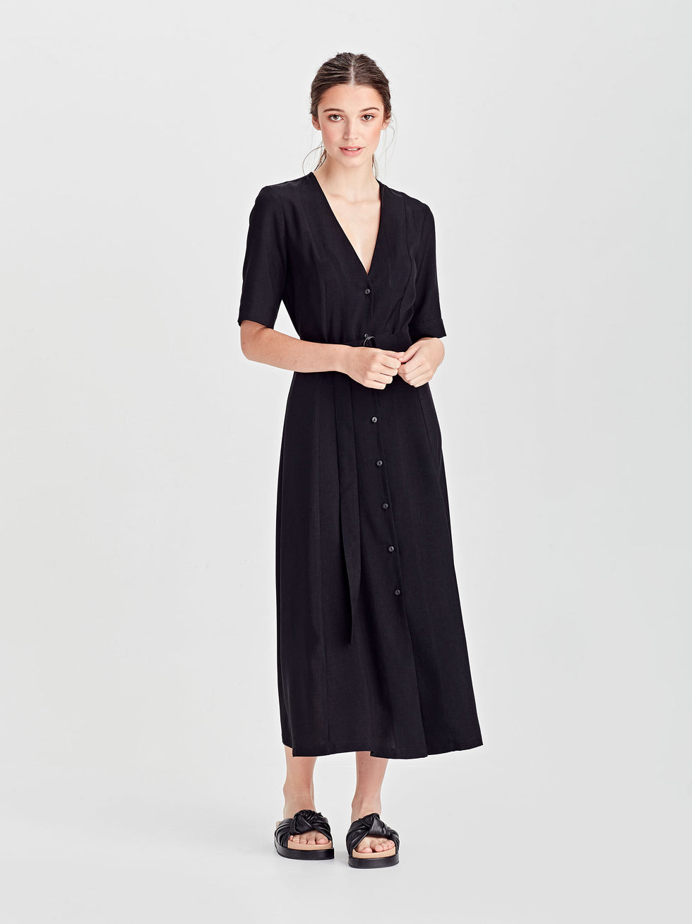 Elise Dress (Vintage Triacetate) Black
