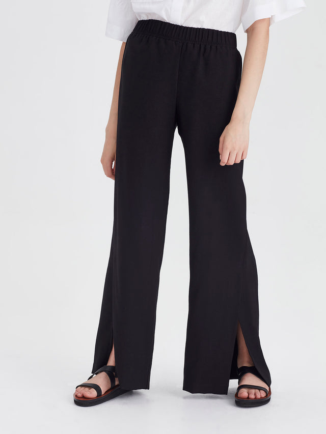 Addy Pant (Bamboo Crepe) Black